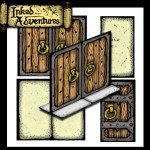 A Set of Free Doors from Inked Adventures