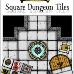 New Square Dungeon Tiles Set from Inked Adventures