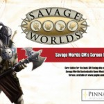 New Savage Worlds Deluxe GM's Screen Rules Inserts